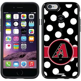 Coveroo Arizona Diamondbacks Polka Dots Design Phone Case for iPhone 6 - Retail Packaging - Black