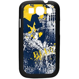 NCAA Michigan Wolverines Paulson Designs Spirit Case for Samsung Galaxy S3, Black, Medium