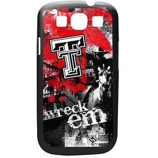 NCAA Texas Tech Red Raiders Paulson Designs Spirit Case for Samsung Galaxy S3, Black, Medium