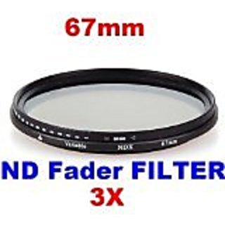 Neewer 3x 67mm ND Fader Neutral Density Adjustable Variable Filter (ND2 to ND400)