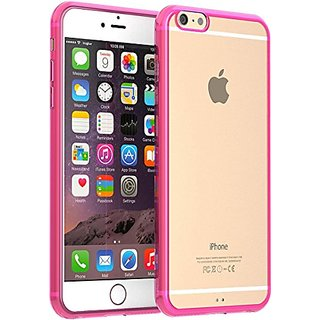 iPhone 6 Plus Case, TruGlueAcrylic Tpu Transparent Hard Thin Case For Iphone 6 5.5 Inch Perfect Fit - Hard case (Pink)
