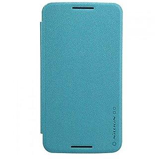 Nillkin Moto Nexus 6 Sparkle Leather Case - Retail Packaging - Blue