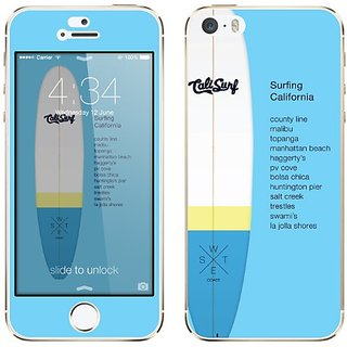 Cellet Surf Skin fort iPhone 5/5S - Light Blue
