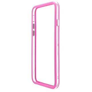 Eagle Cell Plastic Bumper Case for Apple iPhone 6 - Retail Packaging - Hot Pink/Black