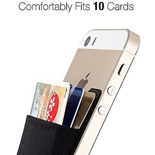 Smartphone Credit Card Holder & Wallet (red) for upto 2 Cards- Adhesive Cell Phone Wallet for All Smartphones including