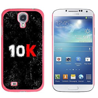 Graphics and More 10K Running Snap-On Hard Protective Case for Samsung Galaxy S4 - Non-Retail Packaging - Pink
