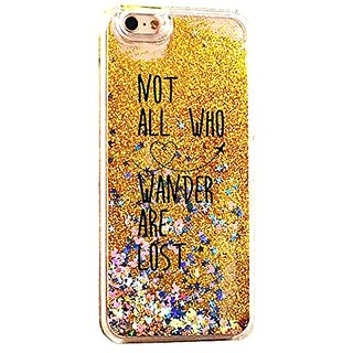 iPhone 6S Case Not All Who Wander Are Lost NPGold Cover For iPhone 6S Luxury Soft Bling Glitter Sparkle Hybrid Bumper Ca