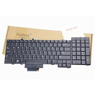 Eathtek New Laptop Keyboard with Backlit for Dell Precision M6500 M6400 series Black US Layout, Compatible with part# 0D