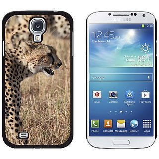Graphics and More Cheetahs On African Plain Pattern Snap-On Hard Protective Case for Samsung Galaxy S4 - Non-Retail Pack