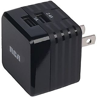 RCA Charger for Apple Devices - Retail Packaging - Black/Black/Black