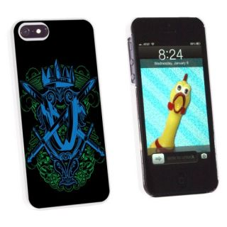 Graphics and More Coat of Arms - Swords and Crown - Snap-On Hard Protective Case for Apple iPhone 5/5s - Non-Retail Pack
