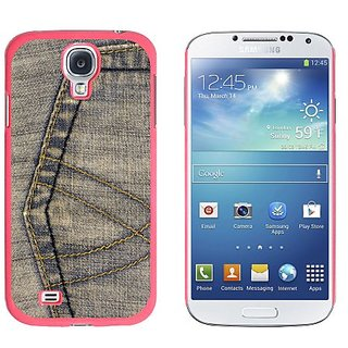 Graphics and More Denim Jean Material Pattern Snap-On Hard Protective Case for Samsung Galaxy S4 - Non-Retail Packaging