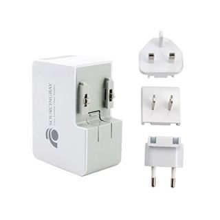 Travel Plug Adapters,sourcingbay 2.4a/12w 2-usb Wall Charger with Removable International Uk + Eu + Us for Iphone 6s / 6