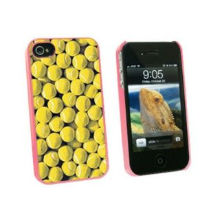 Graphics and More Tennis Balls - Snap On Hard Protective Case for Apple iPhone 4 4S - Pink - Carrying Case - Non-Retail