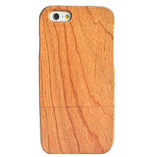 Olina Handmade Real Natural Hard Wood Bamboo Case Cover Carving Wood Case for iPhone 6 (4.7) (Cherry wood)