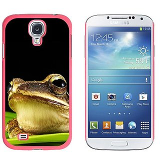 Graphics and More Golden Frog On Leaf Pattern Snap-On Hard Protective Case for Samsung Galaxy S4 - Non-Retail Packaging