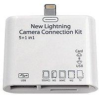 Yehard Camera Connection Kit USB 2.0 5 In 1 Camera Connection Kit MS/ M2/ TF SD Card Reader For Ipad4,ipad Air,ipad Air2