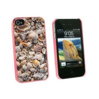 Graphics and More Sea Shells - Ocean Beach - Snap On Hard Protective Case for Apple iPhone 4 4S - Pink - Carrying Case