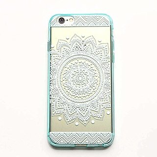 iPhone 6 Case,LUOLNH Henna Full Mandala Floral Dream Catcher TPU Silicone Gel Soft Clear Case Silicone Skin Cover for Ap