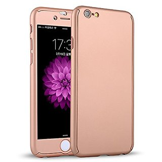 KoKo City Ultra Thin 360 All Round Degrees Full Body Coverage Protection Hard Slim for iphone 6 Case with Tempered Glass