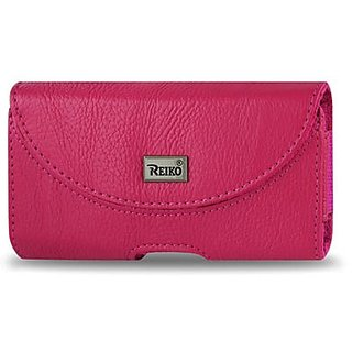 Reiko Horizontal Pouch for iPhone 4G - Retail Packaging - Hot Pink