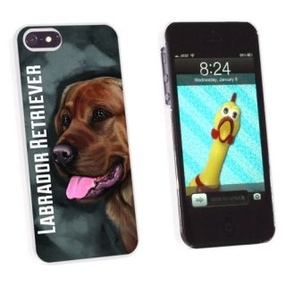Graphics and More Chocolate Labrador Retriever Gray Grey - Dog Pet - Snap-On Hard Protective Case for Apple iPhone 5/5s