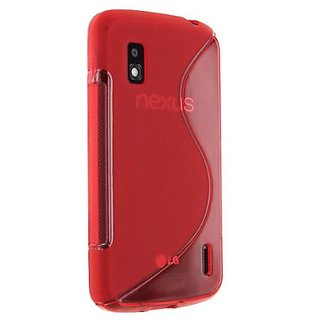 Cruzerlite Sline TPU Case for Nexus 4 - Retail Packaging - Red
