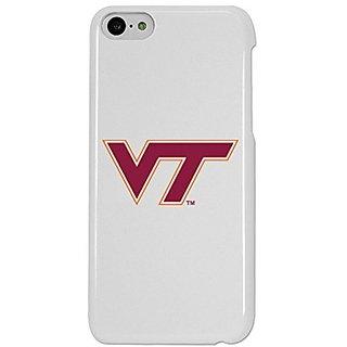 NCAA Virginia Tech Hokies Case for iPhone 5C, One Size, White