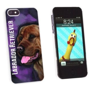 Graphics and More Chocolate Labrador Retriever Pink - Dog Pet - Snap-On Hard Protective Case for Apple iPhone 5/5s - Non