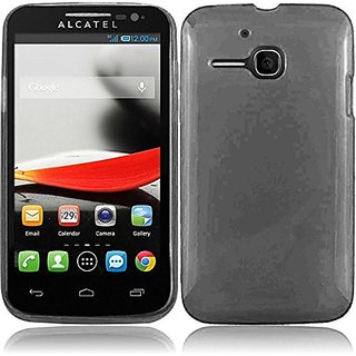 HR Wireless Frosted TPU Protective Cover for Alcatel One Touch Evolve - Retail Packaging - Smoke