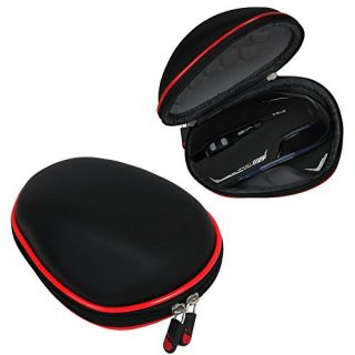 For E-Blue E-3LUE Mazer II 2500 DPI Wireless Gaming Mouse EMS601BKAA-NF Travel EVA Hard Protective Case Carrying Pouch C