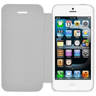 Eagle Cell Flip Case for iPhone 5/5S - Retail Packaging - White