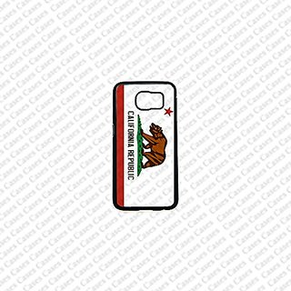 Krezy Case Samsung Galaxy S6 Case, Cute Samsung Galaxy S6 Cover, California FLag Samsung Galaxy S6 Case, Galaxy S6 Case,