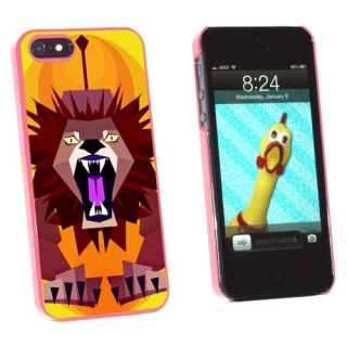 Graphics and More Geometric Lion Yellow - Snap-On Hard Protective Case for Apple iPhone 5/5s - Non-Retail Packaging - Pi