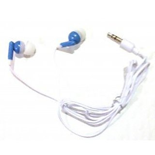TFD Supplies Wholesale Bulk Earbuds Headphones 100 Pack For Iphone, Android, MP3 Player - Blue