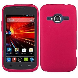 HR Wireless Frosted TPU Cover for ZTE Concord II Z730 - Retail Packaging - Hot Pink