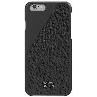 Native Union CLIC Leather Case for iPhone 6 / 6s - Handcrafted Real Leather Protective Slim Case Cover (Black)
