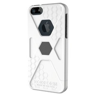 Rokform 440851 SlimRok iPH5 Case for iPhone 5 - 1 Pack - Retail Packaging - White Hot/Gun Metal