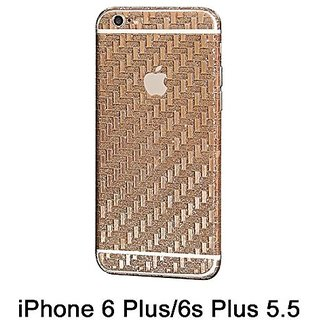 Supstar Luxury Carbon Fibre Full Body Skin Sticker Wrap Covered Edges Vinyl Decal Screen Protector Film for Apple iPhone