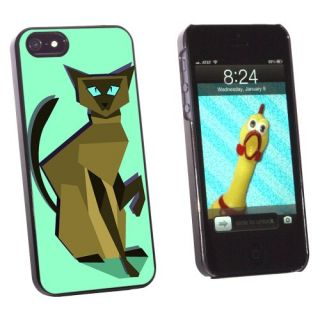 Graphics and More Geometric Siamese Cat Brown - Snap-On Hard Protective Case for Apple iPhone 5/5s - Non-Retail Packagin