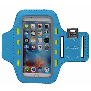 OemGod LED Armband for iPhone 6 Plus 6s, 5s 5c Samsung S4, S3 iPod MP3 Player, Water-Resistant, Dual Slots Key Pocket Ca