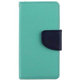 NEX 3-In-1 2 Tone Wallet Case with Wrist Strap for LG G2 VS980I - Retail Packaging - Green/Blue