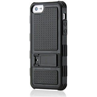 Gearonic AV-5219BPUIB Hybrid Hard PC Back Cover TPU Frame Cover Case with Stand for Apple iPhone 5 - Non-Retail...