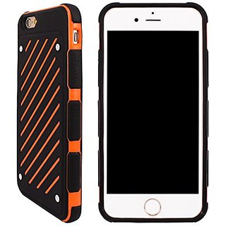 iPhone 6 & 6s Case, Armor iPhone 6 Cover Skin Shock Absorption Flexible Protective Slim Shell Anti-scratch Defender Blac