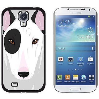 Graphics and More Bull Terrier White and Black Spot Snap-On Hard Protective Case for Samsung Galaxy S4 - Non-Retail Pack