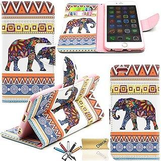 iPhone 6 6S Case, Dteck(TM) Fashion Cartoon Cute Pattern Portable Premium PU Leather Magnetic Closure Folio Flip Stand C