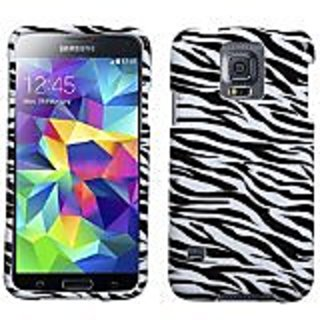 MyBat Samsung Galaxy S5 Phone Protector Cover - Retail Packaging - Zebra Skin