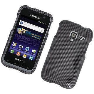 Eagle Cell PISAMR820G127 Stylish Hard Snap-On Protective Case for Samsung Admire 4G R820 - Retail Packaging - Carbon Fib