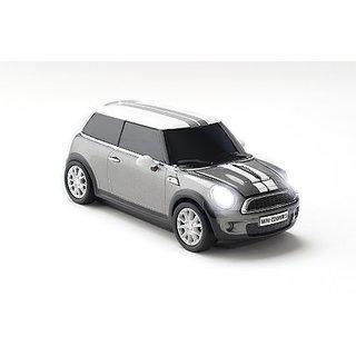 Click Car Mini Cooper S Wireless Optical Mouse - Dark Silver