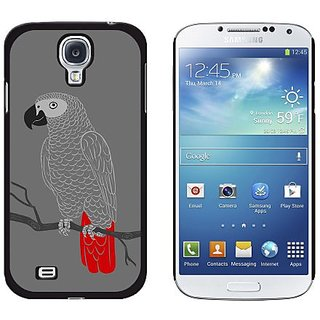 Graphics and More African Gray Parrot Bird Snap-On Hard Protective Case for Samsung Galaxy S4 - Non-Retail Packaging - B
